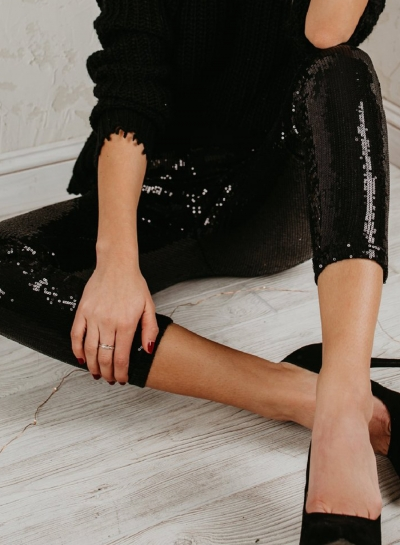 Slim Classic fashion sequin leggings