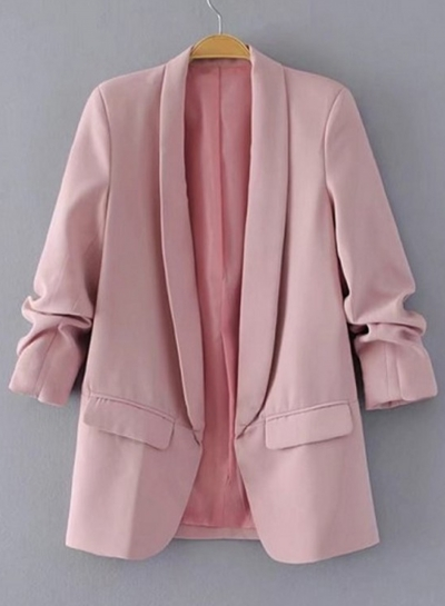 Office Blazer Shawl Collar Open Front Blazer Jacket