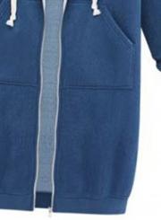 Solid Long Sleeve Full Zip Hooded Coat