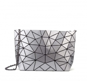 Female Geometric Rhombic PU Folding Chain Handbag