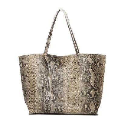 Snake Print Leather Handbag (6 colors)