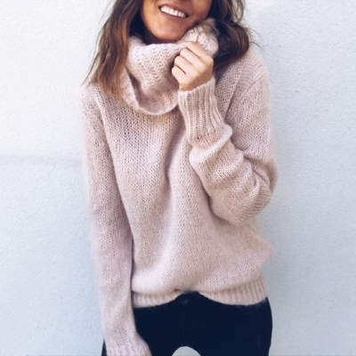's Funnel Neck Loose Sweater