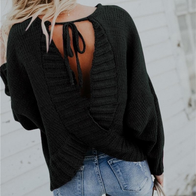 Back Cross Sweater