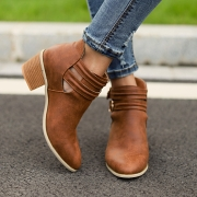 Belt Buckle Chunky Booties