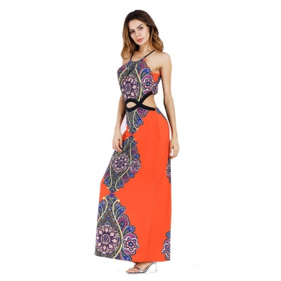 Sexy Plus Sleeveless Size Maxi Dress