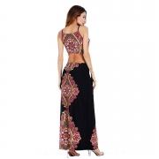 Sexy Plus Sleeveless Size Maxi Dress