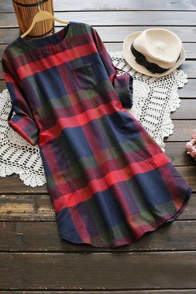 LADY LEISURE PLAID DRESS