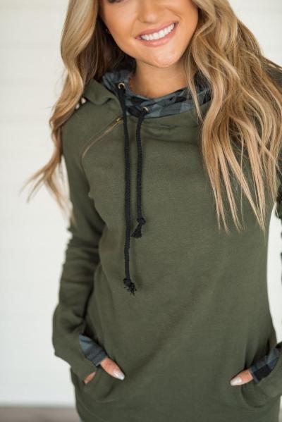 DoubleHood™ Sweatshirt - Evergreen Buffalo