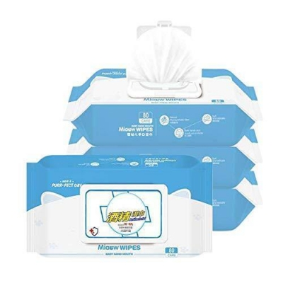80 Wipes 99.9% Cleaning and Wet Wipes, Alcohol Disinfection Wipes Spot Disposable Hand Wipe Skin Clean Bacteria