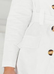 Simple and Fashion White Blazer