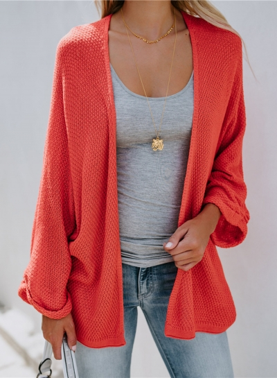 s Cardigans Oversized Open Front Basic Casual Knit Sweaters Coat