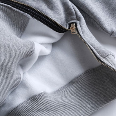 Loose Drawstring Plush Long Sleeve Hoodie stylesimo.com