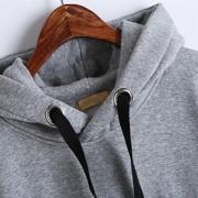 Loose Drawstring Plush Long Sleeve Hoodie