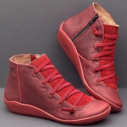 Fall Brown Flat Heel Boots