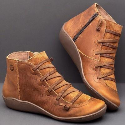 Fall Brown Flat Heel Boots stylesimo.com
