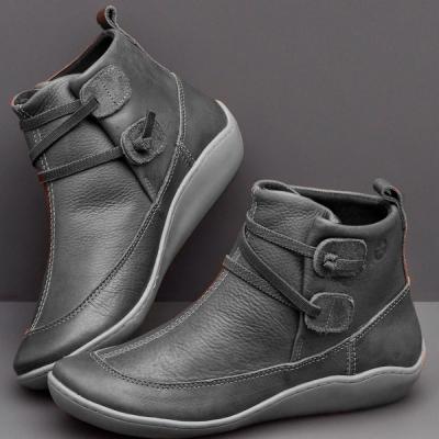 Braided Strap Flat Heel All Season Boots stylesimo.com